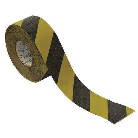 Anti-Slip Tape, Black/Yellow, 3inx60ft