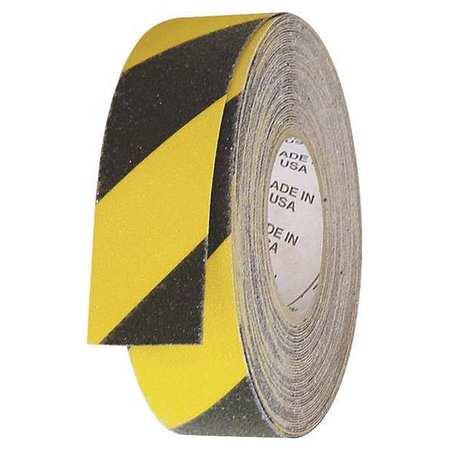 Anti-Slip Tape, Black/Yellow, 1inx60ft