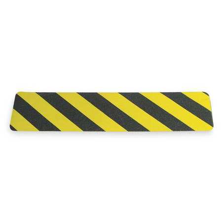 Anti-Slip Tape, Black/Yellow, 2ft, PK10