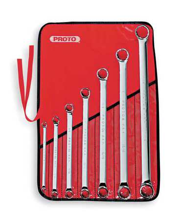 "Box End Wrench Set, 5/16"" to 1-1/8"", 7pcs."