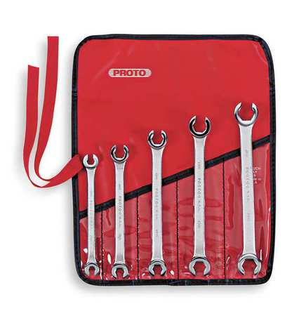 Flare Double End Wrench Set, 5Pieces, 6Pts