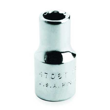 Socket, 1/2 in. Dr, 7/16 in., 12 Pt.
