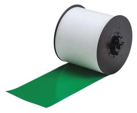 Label Tape Cartridge, Green, 100ft L, 4In W