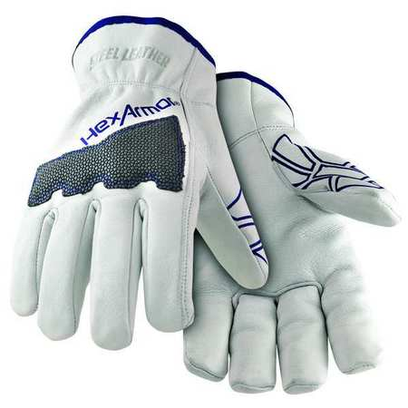 Cut Resistant Gloves, White, 2XL, PR
