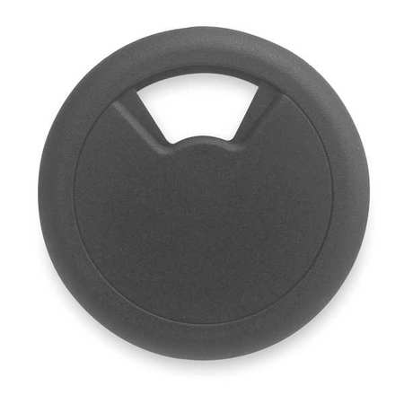 Grommet, Desk, 2 In Dia, 1 1/8 In H, Blk