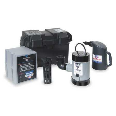 Battery Backup Sump Pump, High Capacity
