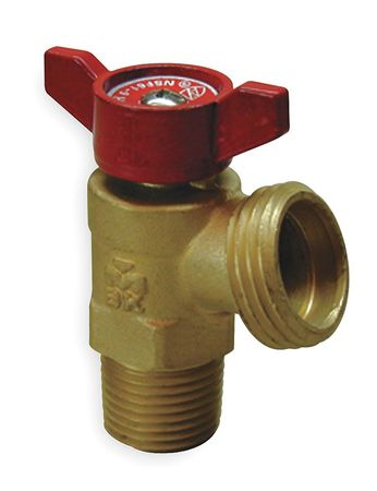 Boiler Drain Valve, Quarter Turn, 1/2 In