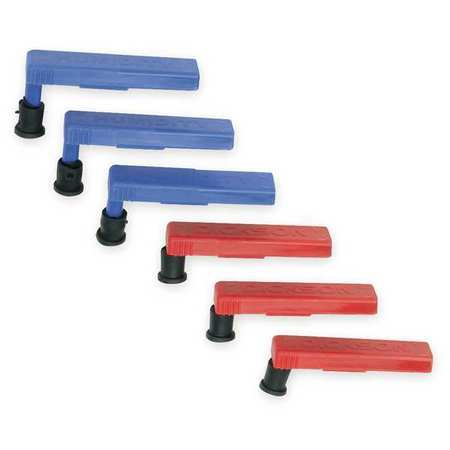 Replacement Pen Kit,  3 Red,  3 Blue