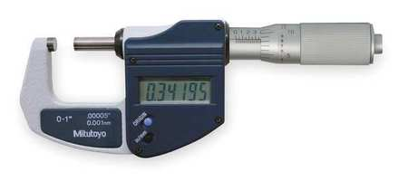 Electronic Micrometer, 0-1 In, Friction