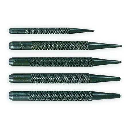 Center Punch Set W/Pouch, 3 and 4 In, 5 Pc