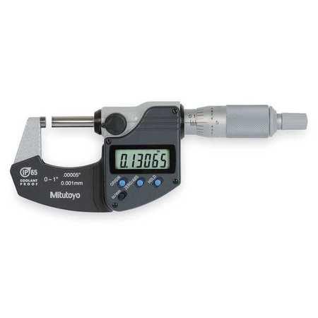 Electronic Micrometer, 1 In, Cert, SPC