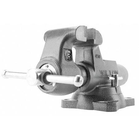 Machinist's Vise, Swivel, 6 In Jaw, DI