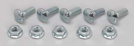 Screw And Flange Nut, Electro Zinc, PK50