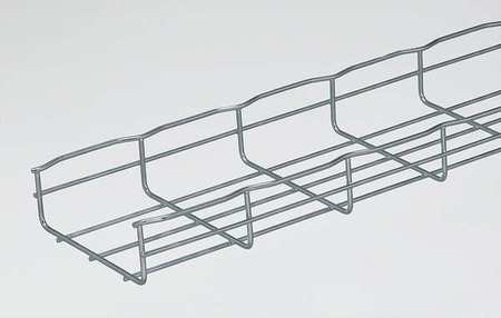 Wire Cable Tray, Width 6 In, L 6.5 Ft, PK4