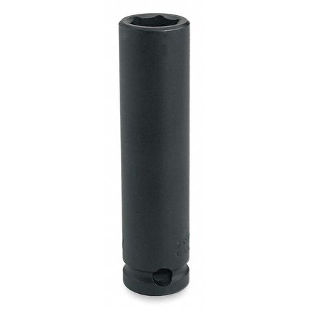 Impact Socket, 3/8 In Dr, 12mm, 6 pt
