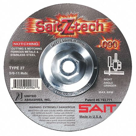 Abrasive Cut-Off Wheel, 4-1/2 In. Dia.
