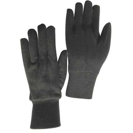 Jersey Gloves, Poly/Cotton,  L, Brown, PR