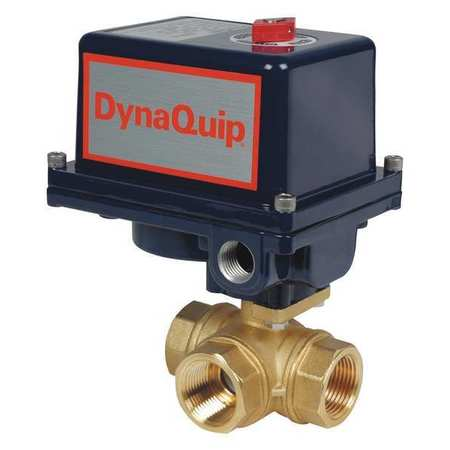 "1-1/4"" FNPT Brass Electronic Ball Valve 3-Way"