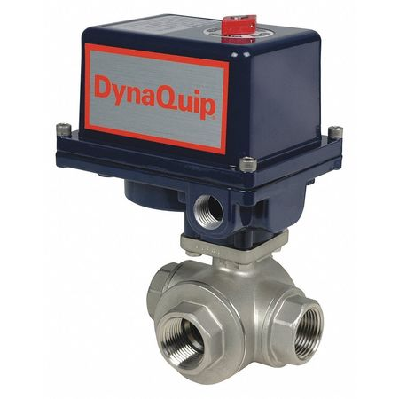 "3/4"" FNPT Stainless Steel Electronic Ball Valve 3-Way"