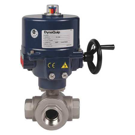 "2"" FNPT Stainless Steel Electronic Ball Valve 3-Way"