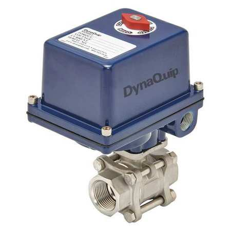 "1/4"" FNPT Stainless Steel Electronic Ball Valve 2-Way"