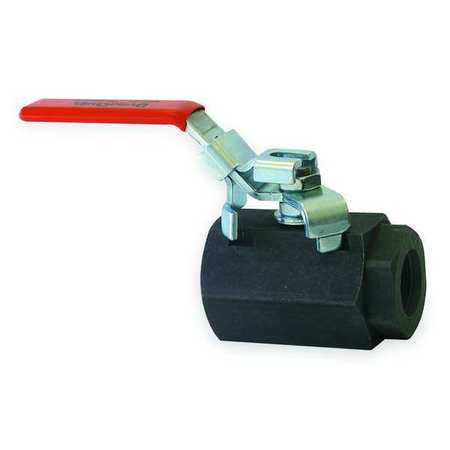 "3/8"" SAE Carbon Steel Ball Valve Inline"