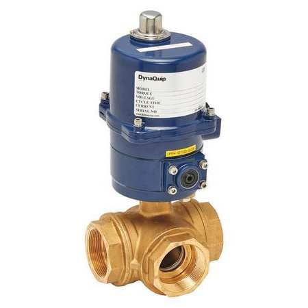 "2"" FNPT Brass Electronic Ball Valve 3-Way"