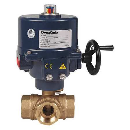 "3"" FNPT Brass Electronic Ball Valve 3-Way"