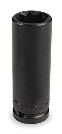 Impact Socket, 1/2 In Dr, 1 In, 8 pt