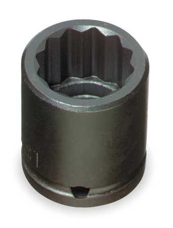 Impact Socket, 1/2 In Dr, 9/16 In, 12 pt