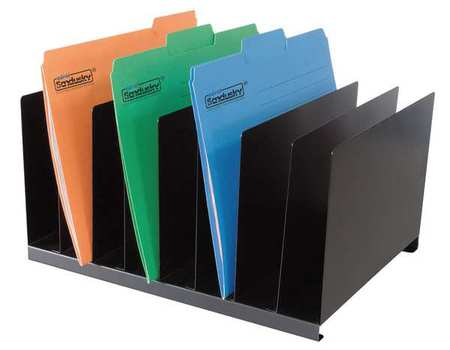 Desk Organizer, Letter, 8 Compartments, Blk