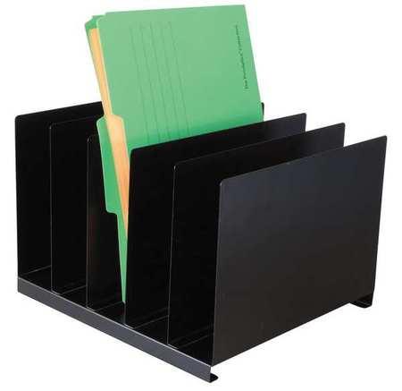 Desk Organizer, Letter, 5 Compartments, Blk