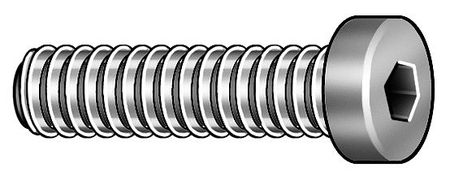 "1/4""-20 x 3/8"" Black Oxide Alloy Steel Low Socket Head Cap Screw,  100 pk."