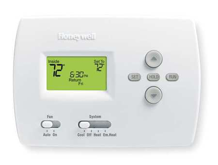 Thermostat,  5-2 Day Programmable,  Stages 2 Heat/1 Cool