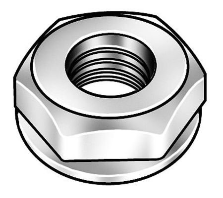 "1/4""-20 Zinc Plated Finish Steel Lock Nut,  100 pk."