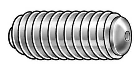 Socket Set Screw, Oval, 3/8-16x1, PK50