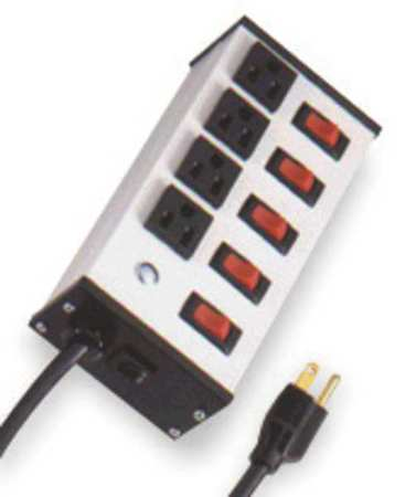 Outlet Strip, 15A, White