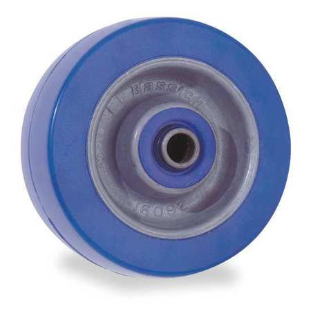 Caster Wheel, 6 in. Dia, 1230 lb., Blue
