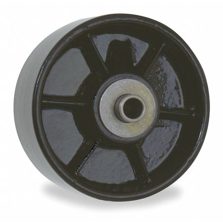 Caster Wheel, Cast Iron, 1000 lb., Black