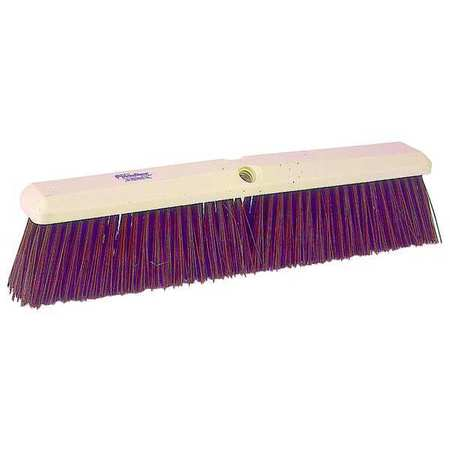 TOUGH GUY Maroon Synthetic Heavy Duty Push Broom