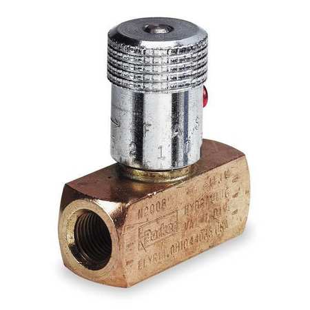 Needle Valve, Steel, 1/4-18, 5 GPM, 5000 PSI