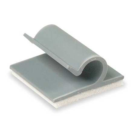 Cable Clip, Side Entry, Gray, PK25