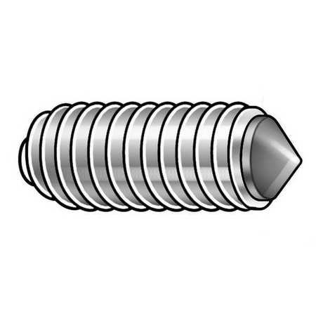 Socket Set Screw, Cone, 3/8-24x1/2, PK50