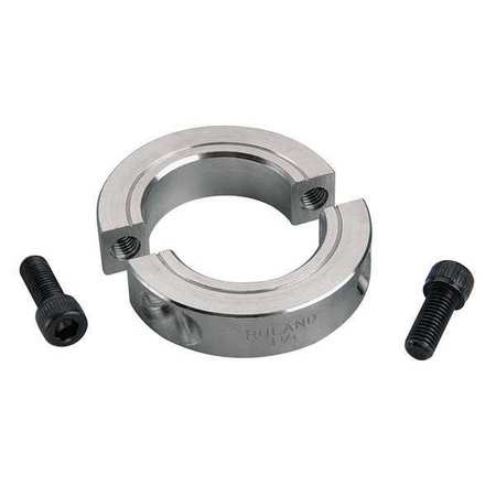 Shaft Collar, Clamp, 2Pc, 2-1/16 In, Alum