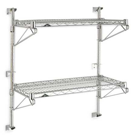 Industrial Wall Shelving, Chrome