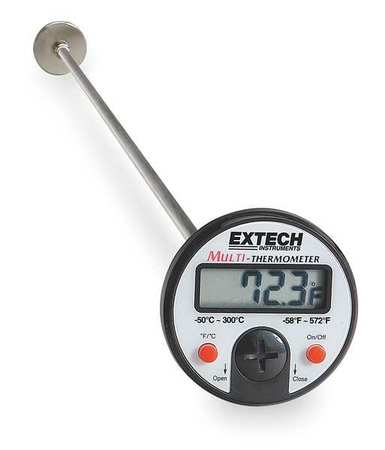 Digital Pocket Thermometer, Plastic, 5 In.
