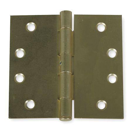 Template, Plain, Dulll Brass, 4x4, PK2
