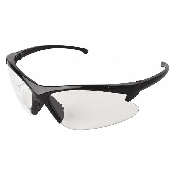 JACKSON SAFETY 20389 Dual Readers Safety Glasses CLR Len +2.