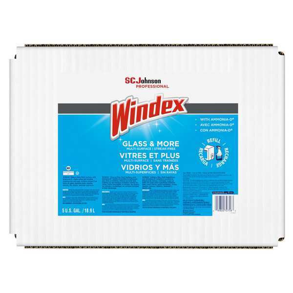WINDEX 696502 Glass Cleaner,5 gal.,Blue
