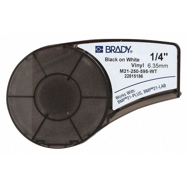 BRADY M21-250-595-WT Label Tape Cartridge,Permanent Printer